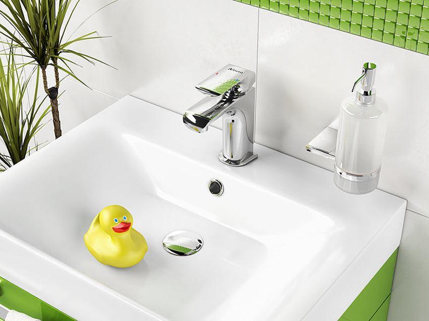 Bateria umywalkowa z korkiem click-clack Ferro Kvadro