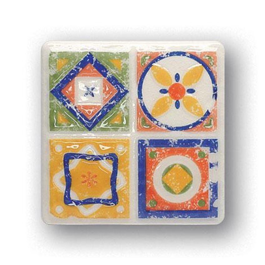 Kolorowy Dekor ścienny 11x11 Tubądzin Majolika Quartet