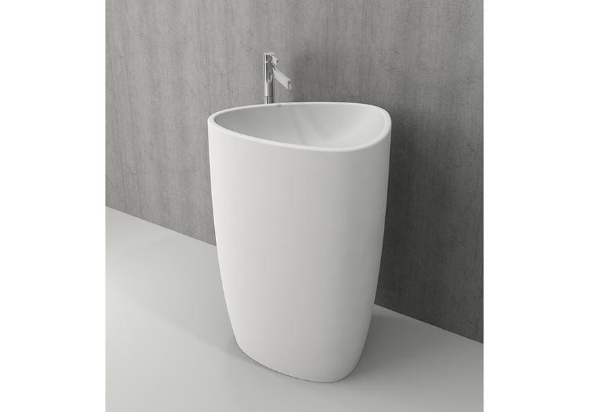 Umywalka wolnostojąca monoblok Matt White Bocchi Etna