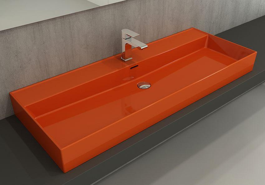 Umywalka meblowa/nablatowa/wisząca 120 cm Glossy Orange Bocchi Milano