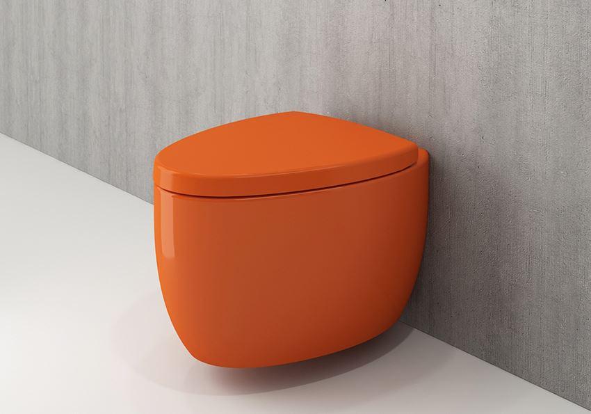 Miska WC wisząca bez deski Glossy Orange Bocchi Etna