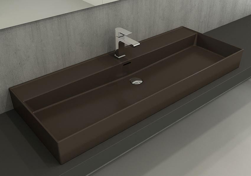 Umywalka meblowa/nablatowa/wisząca 120 cm Matt Brown Bocchi Milano