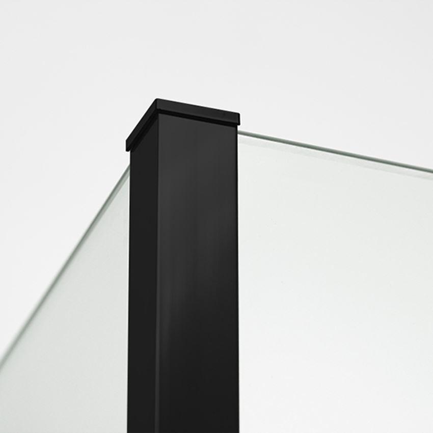 Detal czarny ścianki prysznicowej New Modus Black