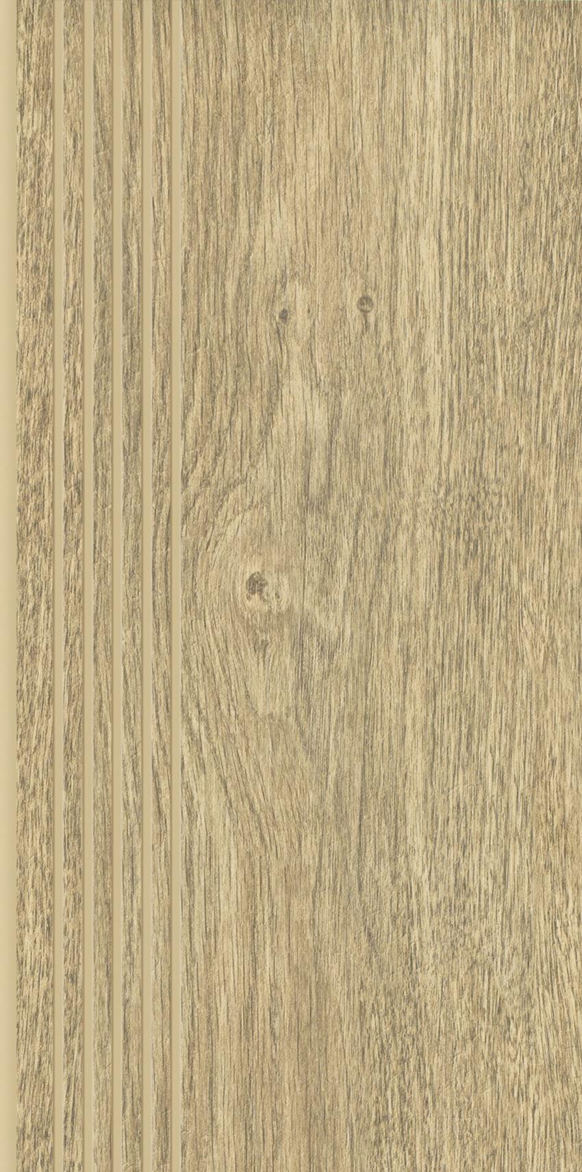 Płytka stopnicowa 29,8x59,8 cm Paradyż Almonte Natural Stopnica Prosta Nacinana Mat