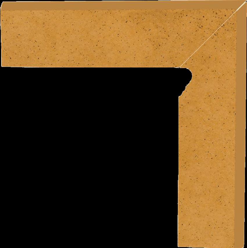 Płytka cokołowa 8x30 cm Paradyż Aquarius Beige Cokół 2 El. Prawy 8,1X30 G1
