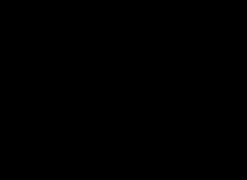 Bateria bidetowa stojąca z korkiem Deante Floks rysunek techniczny