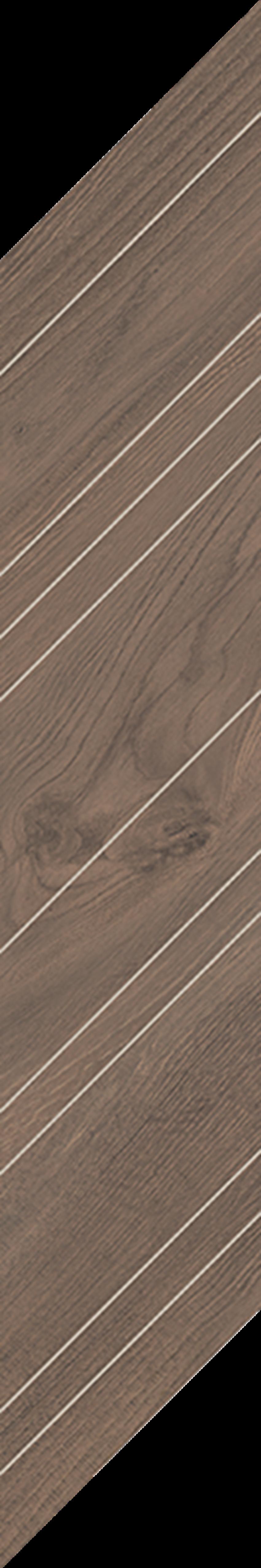 Płytka dekoracyjna 14,8x88,8 cm Paradyż Wildland Dark Dekor Chevron Prawy