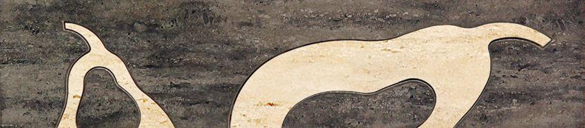 Listwa ścienna 36x8 cm Domino Toscana brąz Pear