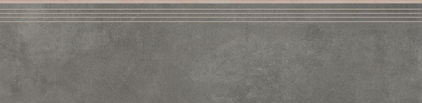 Płytka stopnicowa 29,7x119,7 cm Cerrad Tassero grafit