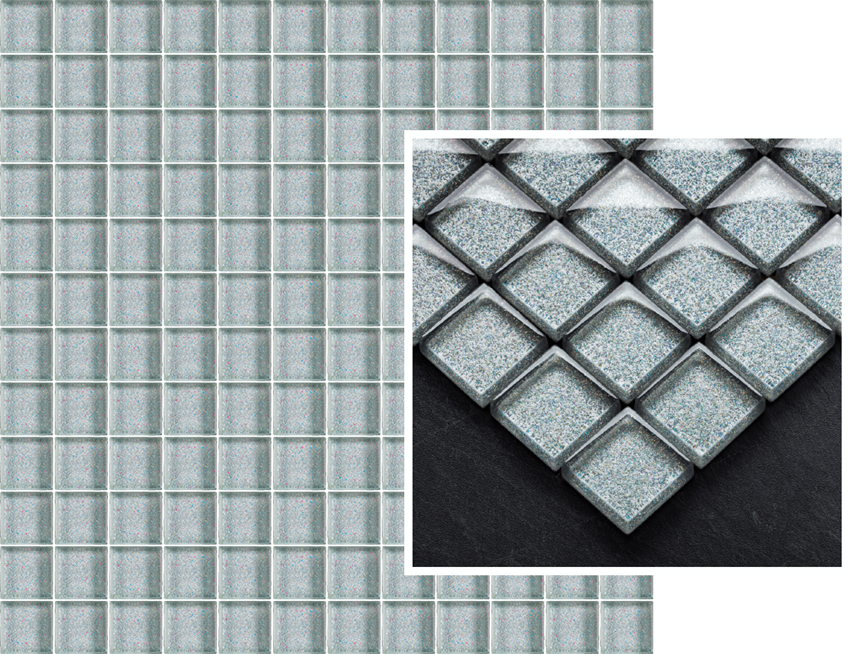 Mozaika szklana 29,8x29,8 cm Paradyż Uniwersalna Mozaika Szklana Silver Brokat