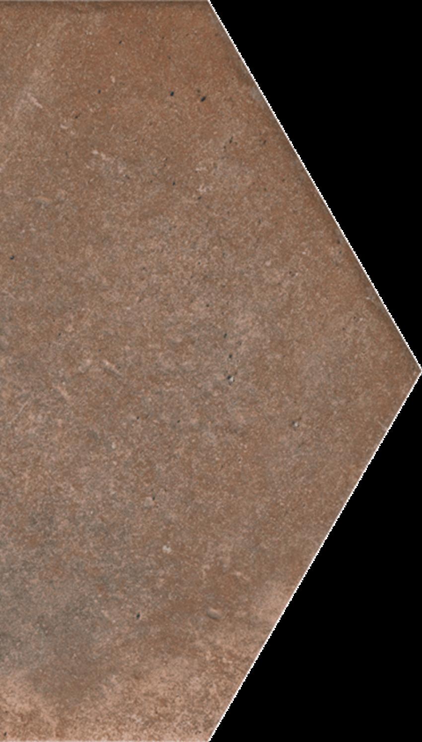 Dekoracja podłogowa 14,8x26 cm Paradyż Scandiano Rosso Połowa