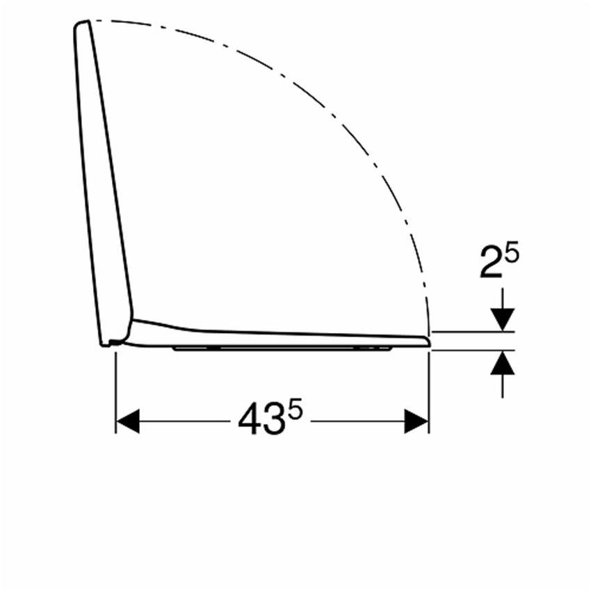 Deska sedesowa antybakteryjna wolnoopadająca Koło Nova Pro rysunek