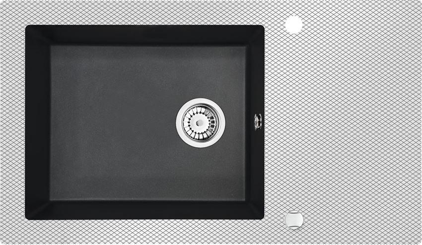 Zlewozmywak szklano 1-komorowy z ociekaczem Deante Capella