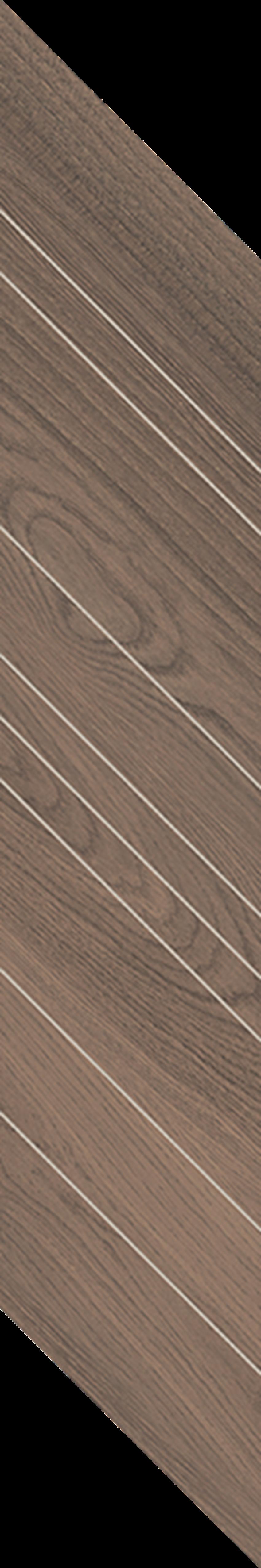 Płytka dekoracyjna 14,8x88,8 cm Paradyż Wildland Dark Dekor Chevron Lewy