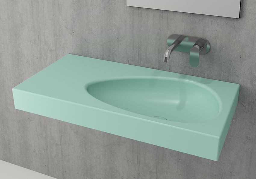 Umywalka ścienna/meblowa/nablatowa Matte Mint Green Bocchi Etna