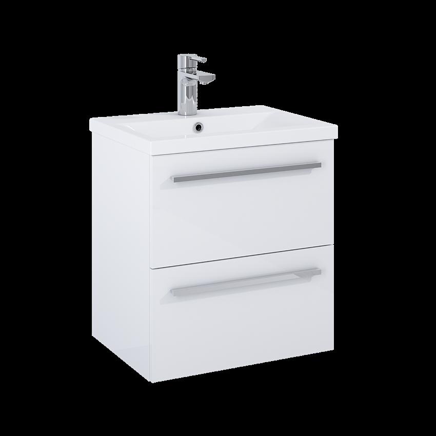 Szafka z umywalką 50 cm biała Elita Kwadro Plus