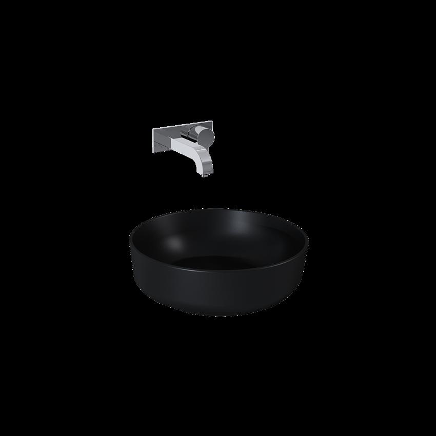 Umywalka nablatowa black matt 42,5x41,5 cm Elita Lorca