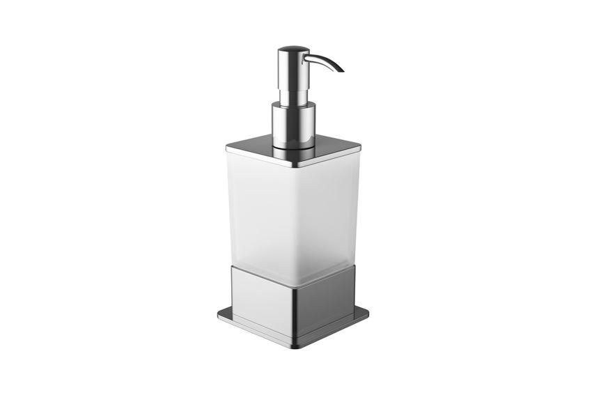 Dozownik do mydła stojący chrom Excellent Riko