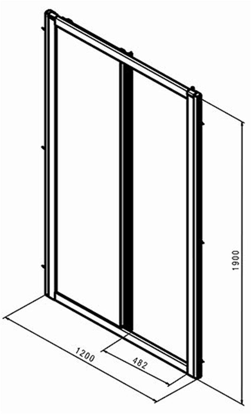 Drzwi przesuwne 120  Koło Geo rysunek techniczny
