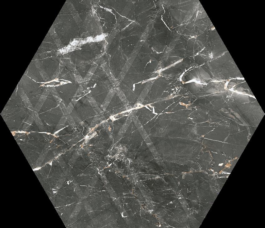 Płytka ścienno-podłogowa 17,1x19,8 cm Paradyż Marvelstone Grey Heksagon