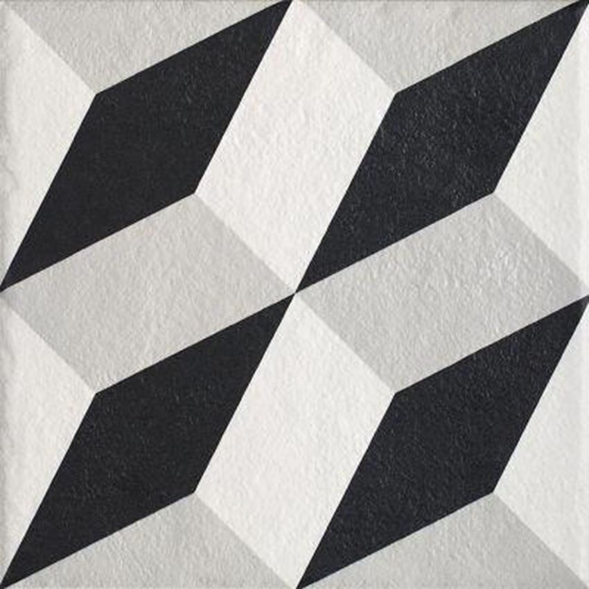 Płytka ścienno-podłogowa 19,8x19,8 cm Paradyż Modern Gres Szkany Struktura Motyw A