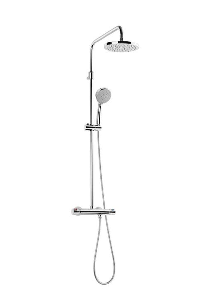 Kolumna prysznicowa z baterią termostatyczną i regulacja teleskopową 56,2x133,9 cm Roca Victoria