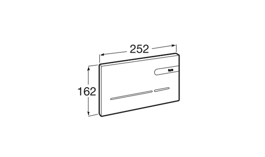 EP-2 - Przycisk elektroniczny Roca rysunek