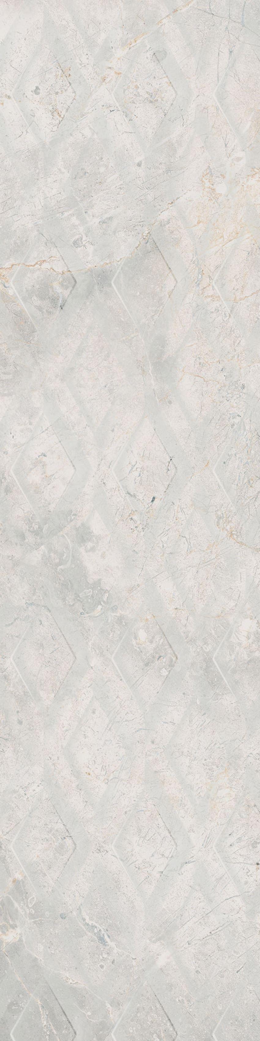 Płytka dekoracyjna 29,7x119,7 cm Cerrad Masterstone White Decor geo MAT