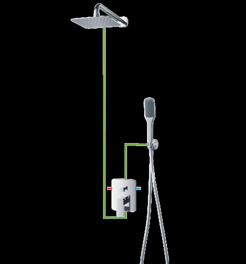 Kompletny łazienkowy system podtynkowy Omnires Apure