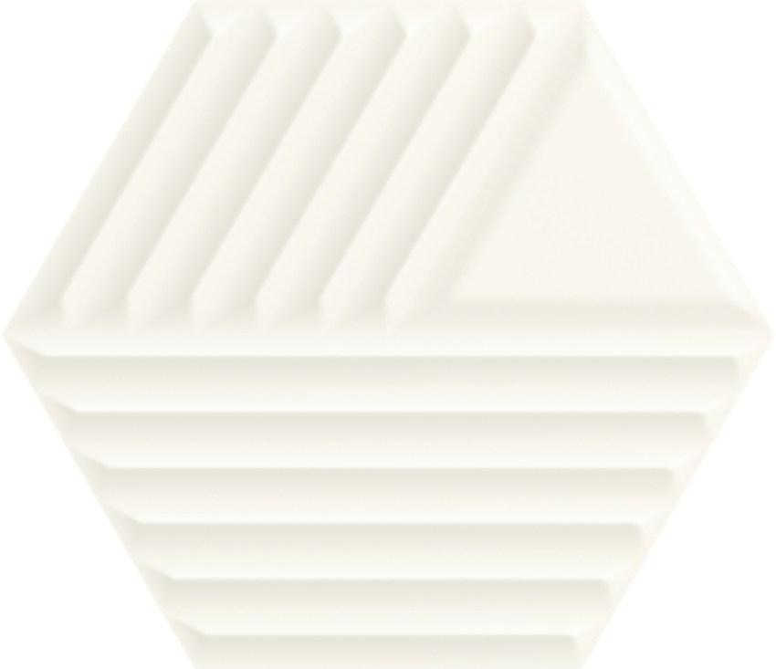 Płytka ścienna 19,8x17,1 cm Paradyż Woodskin Bianco Heksagon Struktura C Ściana