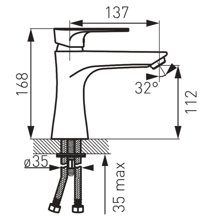 Bateria umywalkowa stojąca FDesign Pinea rysunek