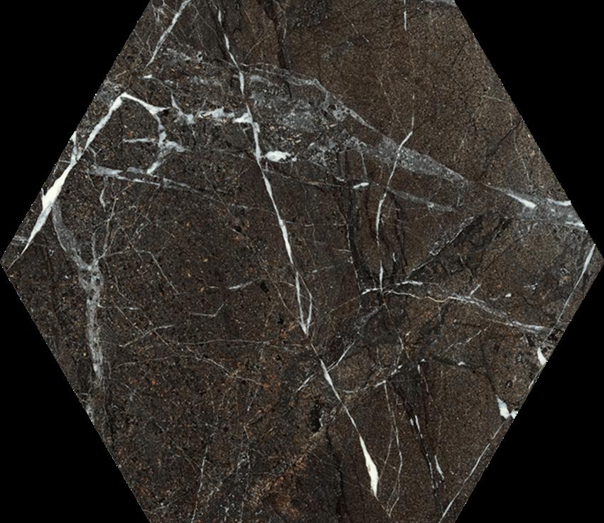 Dekoracja podłogowa 17,1x19,8 cm Paradyż Tosi Brown Hexagon Poler