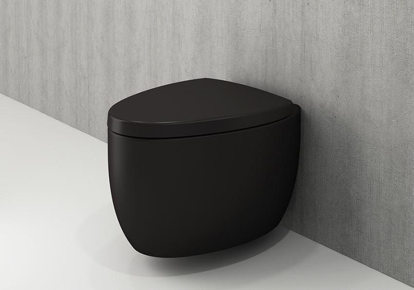 Miska WC wisząca bez deski Matt Black Bocchi Etna