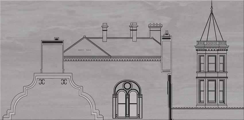 płytka dekoracyjna Cersanit City Grey Inserto House WD613-005