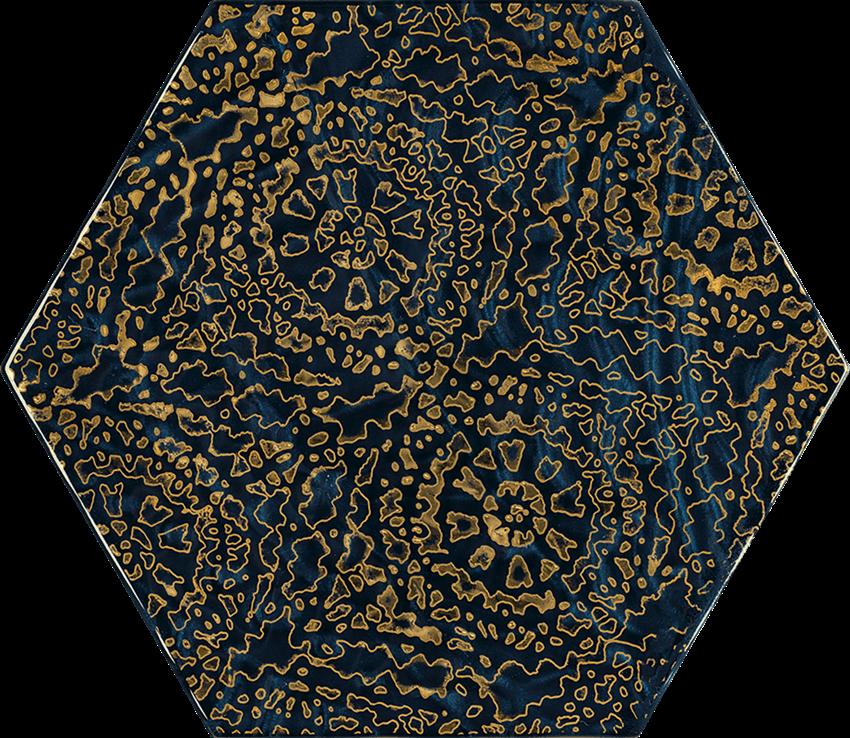 Dekoracja ścienna 17,1x19,8 cm Paradyż Urban Colours Blue Inserto Szklane Heksagon A