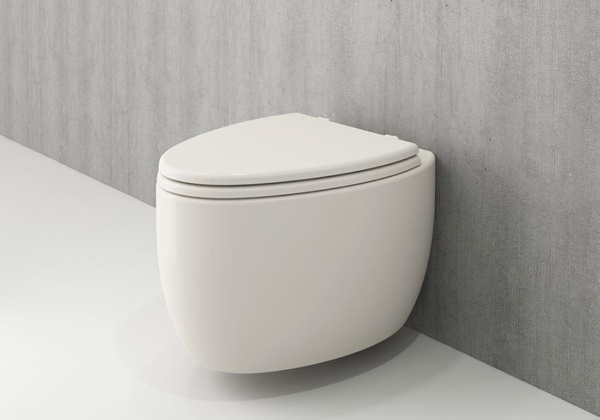 Miska WC wisząca bez deski Glossy Biscuit Bocchi Etna