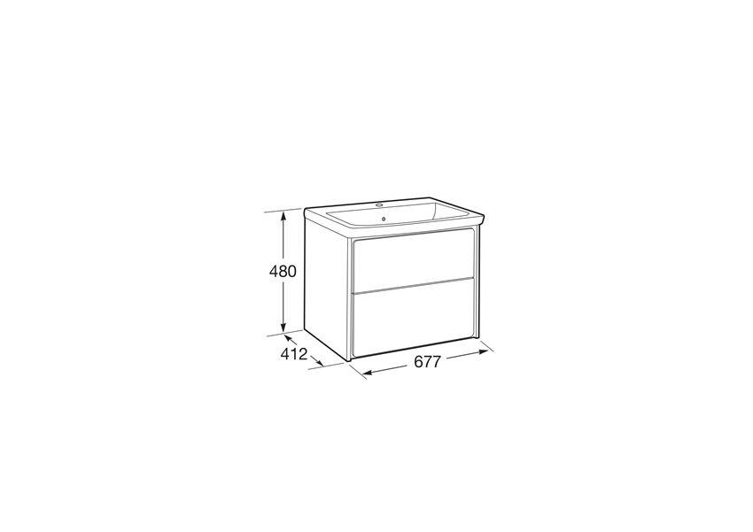 Zestaw łazienkowy Unik z 2 szufladami 70x41,2x48 cm Roca Ronda