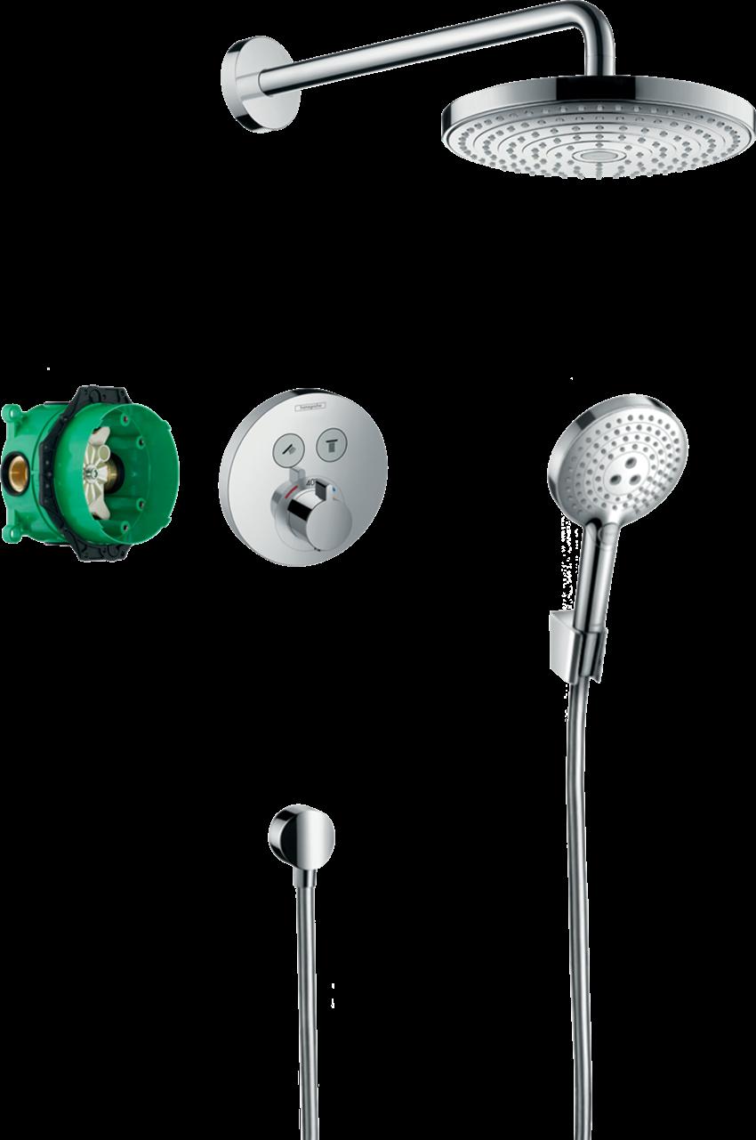 Zestaw prysznicowy podtynkowy z termostatem Hansgrohe Raindance Select S
