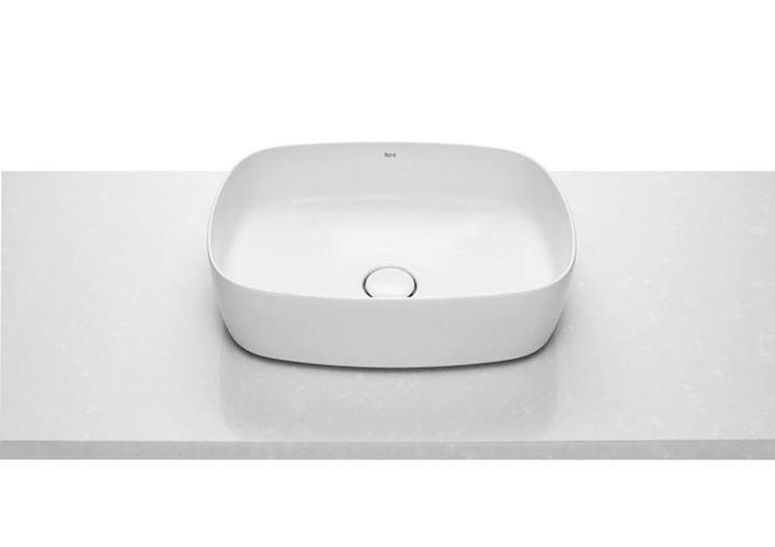 Umywalka nablatowa Soft FINECERAMIC® z powłoką MaxiClean 50x37x14 cm Roca Inspira