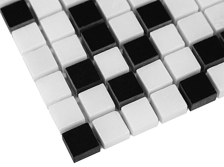 Mozaika 30,5x30,5 cm Dunin Black&White Pure White mix 15