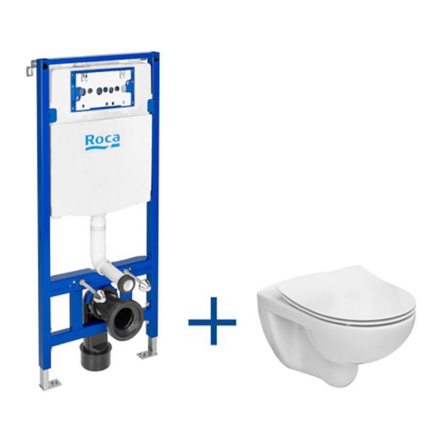 Zestaw podtynkowy Duplo One + miska WC podwieszana Victoria Rimless 47,5x112 cm Roca Victoria
