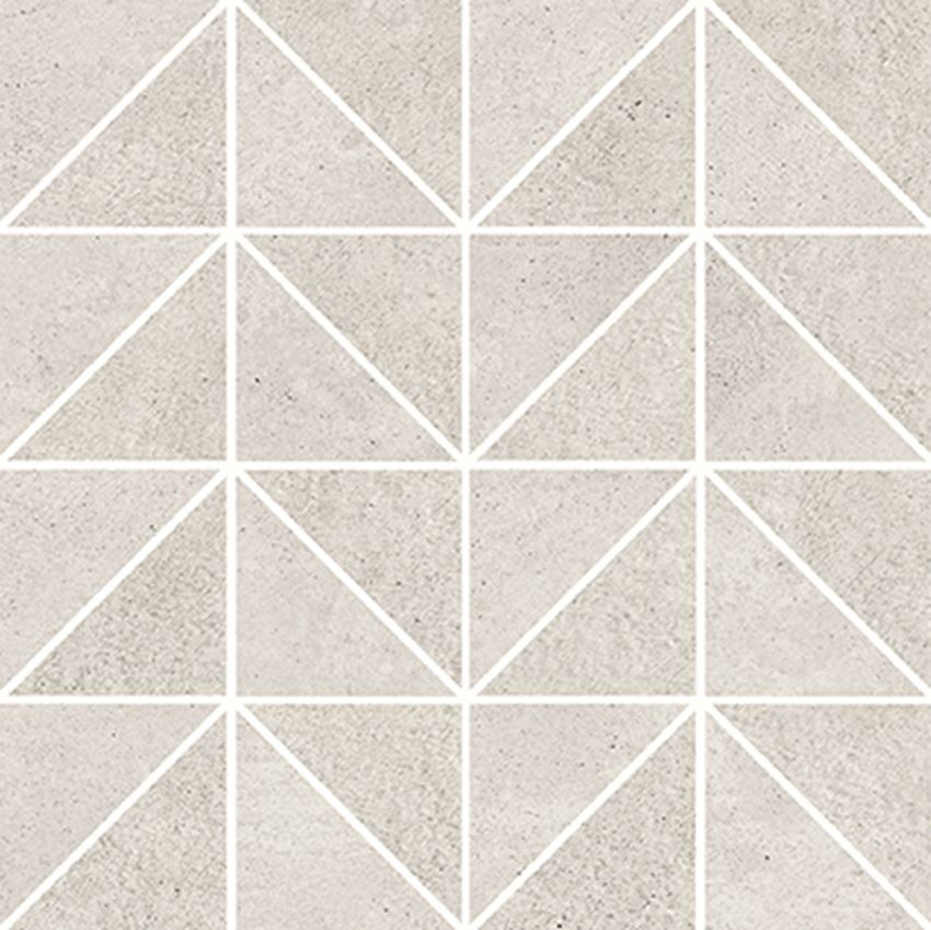 Mozaika 29x29 cm Opoczno Keep Calm Grey Triangle Mosaic Matt
