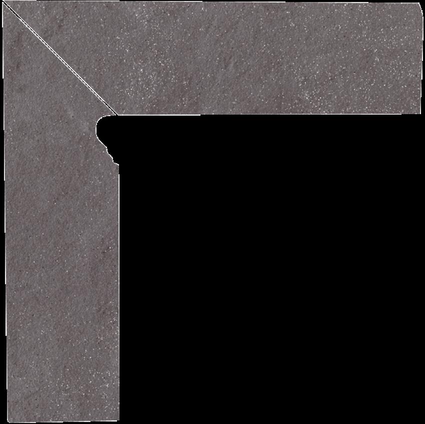 Cokół, 8,1x30 cm Paradyż Taurus Grys 2 El.-Lewy