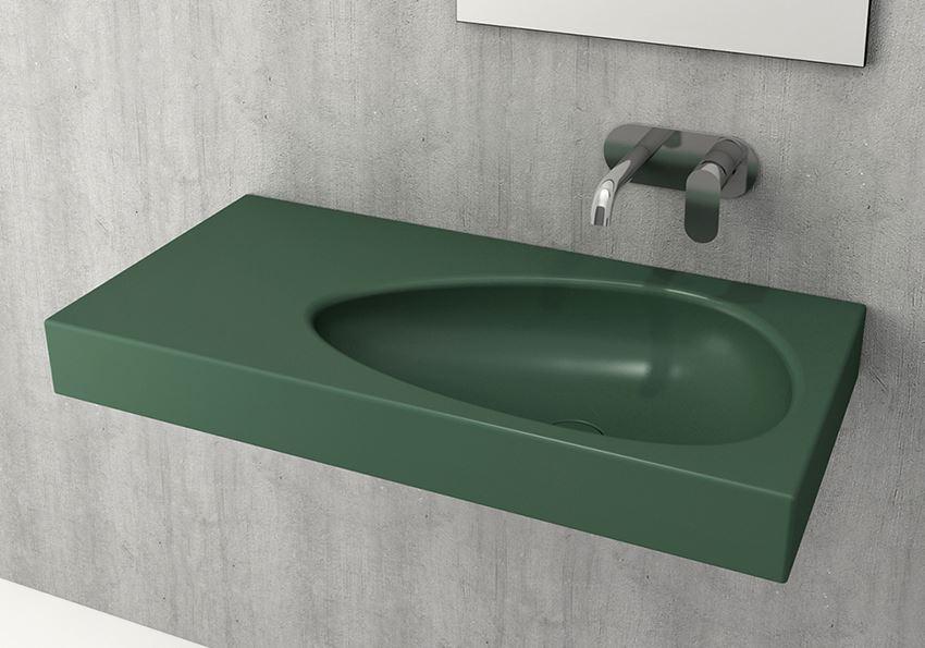 Umywalka ścienna/meblowa/nablatowa Matte Green Bocchi Etna