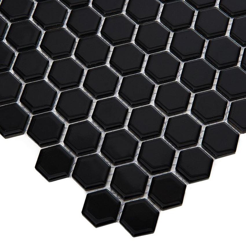 Mozaika 30x26 cm Dunin Hexagonic Mini Hexagon Black