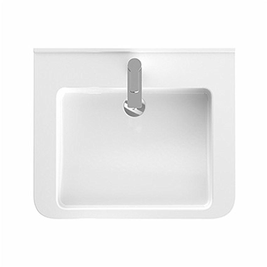 Umywalka dla osób niepełnosprawnych 65x52,5 cm, z otworem i przelewem Koło Nova Pro Premium Bez Barier