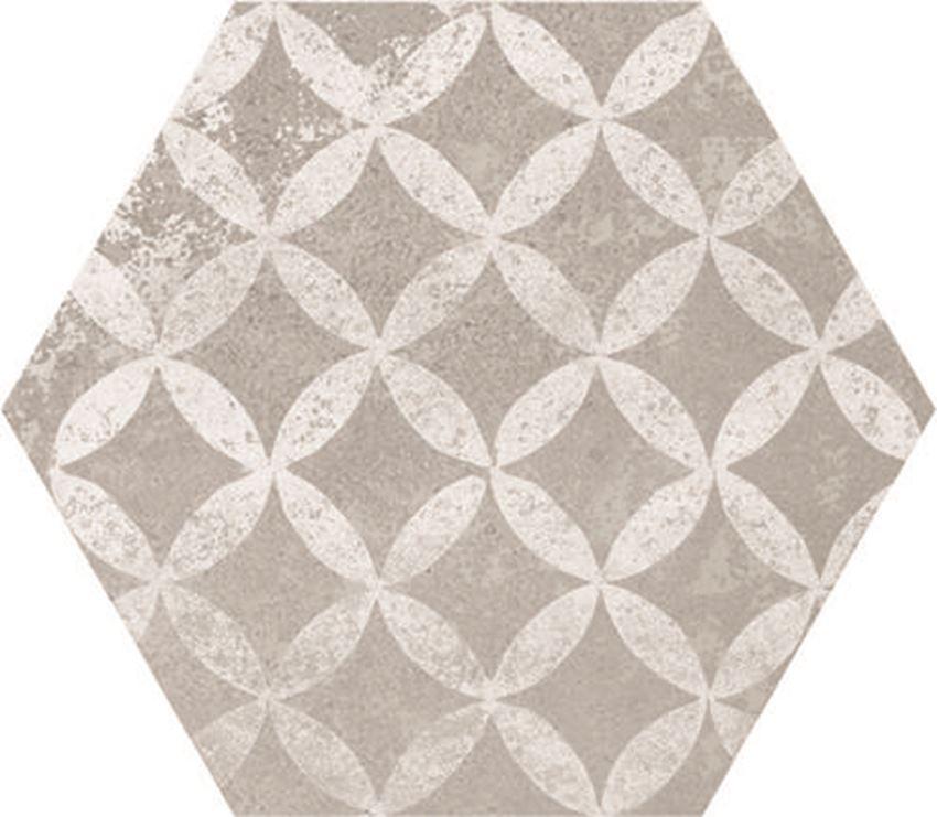 Płytka podłogowa hexagonalna 21,6x24,6 cm Azario Ingma Grey Decor Hexagono