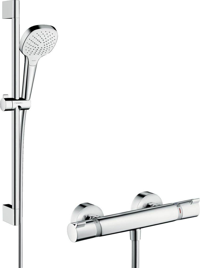 Zestaw prysznicowy Vario z termostatem Hansgrohe Croma Select E