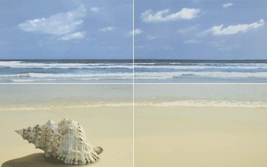 Dekoracje ścienne 40x25 cm Paradyż Acapulco Blue Panel Plaża