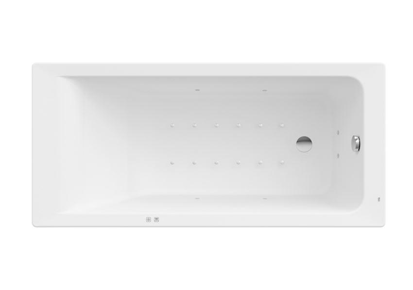 Prostokątna wanna akrylowa z hydromasażem Smart Air Plus Roca Easy